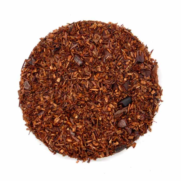 Red chocolate organic tea herbs and spices shanti tea