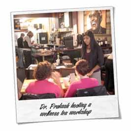 Dr. Prakash hosting a wellness tea workshop, Certified Organic Tea by Shanti Tea Canada