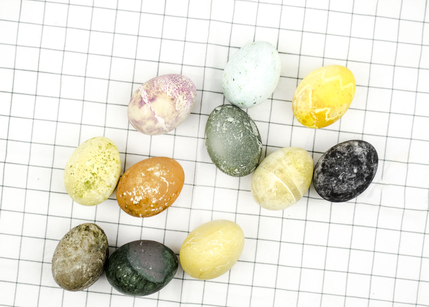 Easter Eggs Dyed with Tea