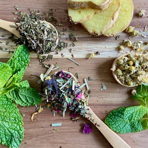 Herbal teas for digestion